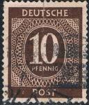 Stamps : Europe : Germany :  OCUPACIÓN INTERALIADA. CIFRAS 1946. Y&T Nº AAS8