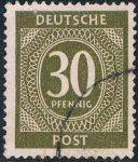 Sellos del Mundo : Europa : Alemania : OCUPACIÓN INTERALIADA. CIFRAS 1946. Y&T Nº AAS18