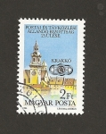 Stamps Hungary -  Vista de Cracovia