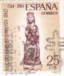 Stamps Spain -  VII Centenario de la Reconquista de Jerez-Virgen del Alcázar   (Q)