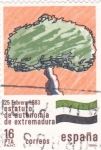 Stamps Spain -  Estatuto de Autonomía de Extremadura     (Q)