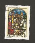 Sellos de Europa - Hungría -  Vidriera Mensajero Principe Arpad