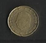 monedas de Europa - Bélgica -  Variante de cuño / anverso.