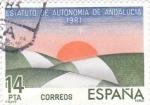 Sellos de Europa - España -  .Estatuto de Autonomía de Andalucía 1981   (Q)