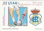 Stamps Spain -  REAL CLUB RECREATIVO DE HUELVA, Decano del Futbol Español     (Q)