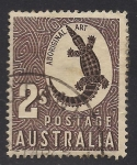 Sellos de Oceania - Australia -  COCODRILO.