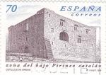 Stamps Spain -  ZONA DEL BAJO PIRINEO CATALÁN- Castillo de Oix (Girona)    (Q)