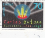 Sellos de Europa - España -  Centenario del Nacimiento Carlos Buigas- (1898-1998) Fuente Mágica Montjuic (Barcelona)     (Q)
