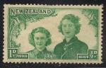 Sellos de Oceania - Nueva Zelanda -  PRINCESAS MARGARITA E ISABEL.