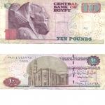 monedas de Africa - Egipto -  10 pounds