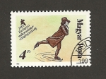 Stamps Hungary -  Patinador siglo XVIII