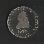 monedas del Mundo : Europa : Alemania :  Gotthold Ephraim Lessing (Proof) / anverso.