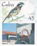 Sellos de America - Cuba -  AVE- CABRERO y Cayo Coco