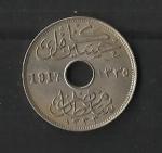 monedas de Africa - Egipto -  Ocupacion Britanica / anverso.