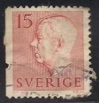 Sellos de Europa - Suecia -  Gustavo VI Rey de Suecia