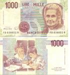 monedas del Mundo : Europa : Italia :  1000 liras