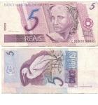 monedas de America - Brasil -  5 reales
