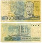 monedas de America - Brasil -  100.000 cruzeiros