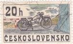 Stamps Czechoslovakia -  MOTOCICLETAS
