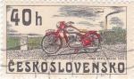 Sellos de Europa - Checoslovaquia -  MOTOCICLETAS