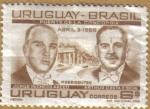 Sellos de America - Uruguay -  Presidentes PACHECO Y COSTA