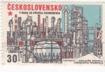 Sellos de Europa - Checoslovaquia -  30 ANIVERSARIO DEL DESARROLLO DE LA INDUSTRIA QUIMICA