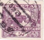 Stamps Czechoslovakia -  CASTILLO DE SLOVENSKA