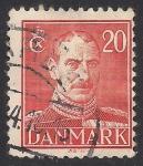 Sellos de Europa - Dinamarca -  CRISTIAN X REY DE DINAMARCA.