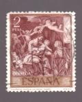 Sellos de Europa - España -  Sagrada Familia- Alonso Cano- Día del Sello