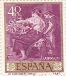 Sellos de Europa - España -  PINTURA- Las Hilanderas- (Diego Velazquez)  (R)