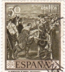 Stamps Spain -  PINTURA-La Rendición de Breda - (Diego Velazquez)  (R)