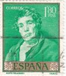 Sellos de Europa - España -  PINTURA- Esopo-  (Diego Velazquez)  (R)