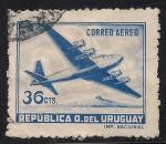 Sellos de America - Uruguay -  Avión de 4 motores.