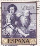 Sellos de Europa - España -  PINTURA- Buen Pastor   - (B.E.Murillo) (R)