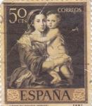 Stamps Spain -  PINTURA- Rebeca y Eliezer   - (B.E.Murillo) (R)