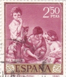 Sellos de Europa - España -  PINTURA-El Juego del Dado   - (B.E.Murillo) (R)