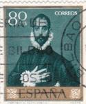 Stamps Spain -  PINTURA-El Caballero de la mano en el pecho   - (El Greco) (R)