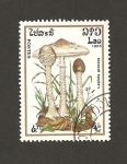 Stamps Laos -  Lepiota procera