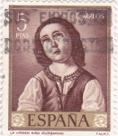 Sellos del Mundo : Europa : España : PINTURA-La Virgen Niña  -(Francisco de Zurbarán) (R) venta.