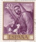 Sellos de Europa - España -  PINTURA-Rebaño de Jacob   - (J.Ribera