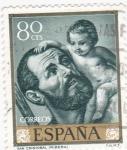 Stamps Spain -  PINTURA- San Cristóbal   - (J.Ribera