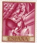 Stamps Spain -  PINTURA- La Justicia - (José Mª Sert) (R)