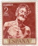 Stamps Spain -  PINTURA- Viejo Desnudo al Sol - (Mariano Fortuny) (R)