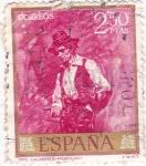 Sellos de Europa - España -  PINTURA- Tipo Calabrés- (Mariano Fortuny) (R)