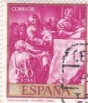 Stamps : Europe : Spain :  PINTURA- La Circuncisión - ( Alonso Cano) (R)