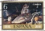 Stamps Spain -  PINTURA- Bodegones - (Luis Menéndez) (R)