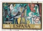 Stamps : Europe : Spain :  PINTURA-El Pintor y la Modelo - (Pablo Ruiz Picasso) (R)