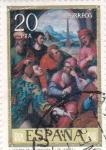 Sellos de Europa - España -  PINTURA-San Esteban en la Sinagoga - (Juan de Juanes) (R)