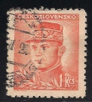 Stamps Czechoslovakia -  General Milan Rastislav Štefánik