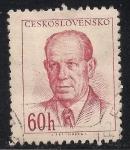 Sellos de Europa - Checoslovaquia -  Presidente Antonín Zapotocky